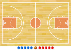 Basketball Court, Basketball Play, Sport. Vector Illustration of Basketball Court. Best for Basketball, Sport, Backgrounds concept Royalty Free Illustration