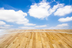 Basketball court. With blue sky Stock Photography