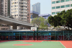Basketball court in the city Royalty Free Stock Images