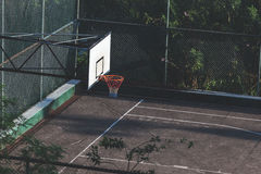 Basketball court in city. Outdoor playground Stock Photography