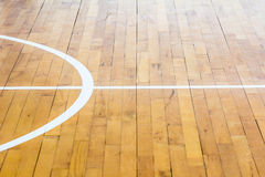 Basketball court. Close up wooden floor basketball court Royalty Free Stock Photography
