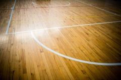 Basketball court. Close up wooden floor basketball court Stock Photography