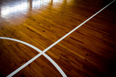 Basketball court. Close up wooden floor basketball court Stock Photo