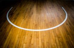 Basketball court. Close up wooden floor basketball court Stock Photos