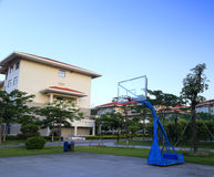 Basketball court. In the compus Stock Images