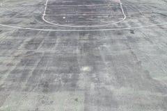 Basketball Court. Concrete Sport Field Stock Photo