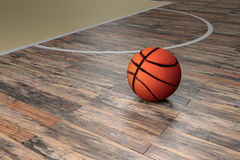 Basketball court. 3d rendering of a basketball court Stock Image