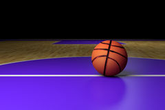Basketball court. 3d rendering of a basketball court Stock Images
