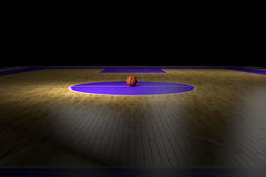 Basketball court. 3d rendering of a basketball court Royalty Free Stock Photography