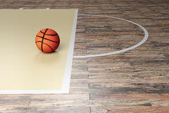 Basketball court. 3d rendering of a basketball court Royalty Free Stock Images