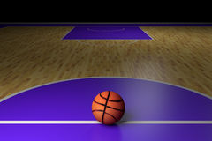 Basketball court. 3d rendering of a basketball court Stock Photos