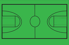 Basketball court diagram on green Stock Photos