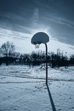 Basketball court in the evening Royalty Free Stock Images