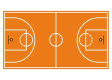 Basketball court. Field  on white background.  Royalty Free Stock Images