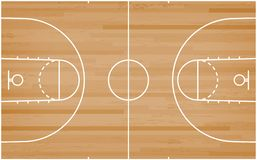 Basketball court floor with line on wood pattern texture background. Basketball field. Vector. Illustration stock illustration