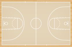Basketball court floor with line on wood texture background. Vector. Illustration stock illustration