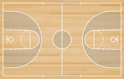 Basketball court floor with line on wood texture background. Vector. Illustration royalty free illustration