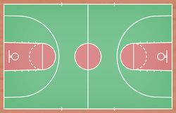 Basketball court floor with line on wood texture background. Vector. Illustration vector illustration