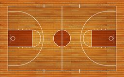 Basketball court floor with line on wood texture background. Vector illustration vector illustration