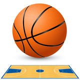 Basketball court floor plan. Royalty Free Stock Photos