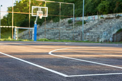 Basketball court. Stock Photos