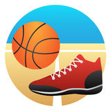 Basketball court. Form of ball players Royalty Free Stock Photos
