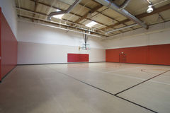 Basketball Court At Gymnasium Royalty Free Stock Photo