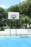Basketball court in housing estate Royalty Free Stock Photo