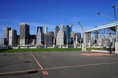 Basketball Court on Hudson River New York. An Basketball Court on Hudson River New York Royalty Free Stock Images