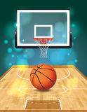 Basketball Court Illustration Stock Image