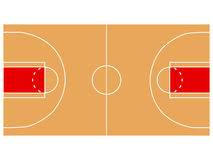 Basketball court illustration. With lines royalty free illustration