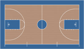 Basketball court. Image of a basketball court Royalty Free Stock Image