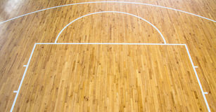 Basketball court indoor Royalty Free Stock Images