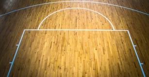 Basketball court indoor. Wooden floor basketball court indoor Stock Photography