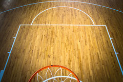 Basketball court indoor Stock Photo