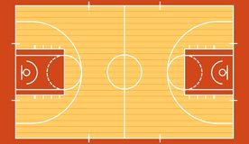 Basketball court isolated 2. Stock vector basketball court isolated and available EPS10 royalty free illustration