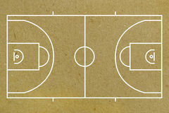 Basketball court layout Royalty Free Stock Photo