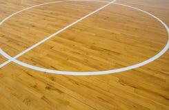 Basketball court. Line on wooden floor basketball court Stock Image