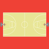Basketball court. Markings and borders Royalty Free Stock Photography