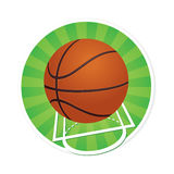 Basketball with Court Markings Royalty Free Stock Photos