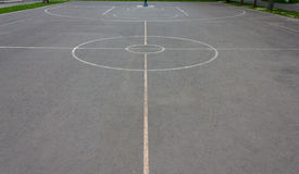 Basketball court markings Stock Photography