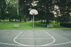 Basketball court. Matte look basketball court Royalty Free Stock Image