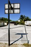 Basketball court in a Mexican schoolyard Stock Image