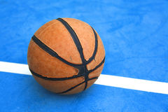 Basketball on a court Royalty Free Stock Image