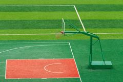Basketball court. Outdoor basketball court Stock Images