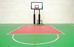 Basketball Court. Outdoor Basketball Court in China stock photo