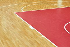 Basketball court parquet stock photography