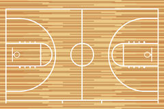 Basketball court with parquet wood board. Vector Stock Photography