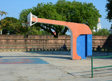 A basketball court in Penang, Malaysia Stock Images