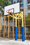 Basketball court in perspective view Royalty Free Stock Images